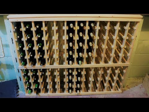 homemade wine rack part 1 design and materials