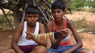 Cooking and Eating Dry Fish in India | Wild Food