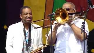 "Donald Harrison Jr. & Fred Wesley - ""Doing It to Death"" -  New Orleans @jazzfest 2014"