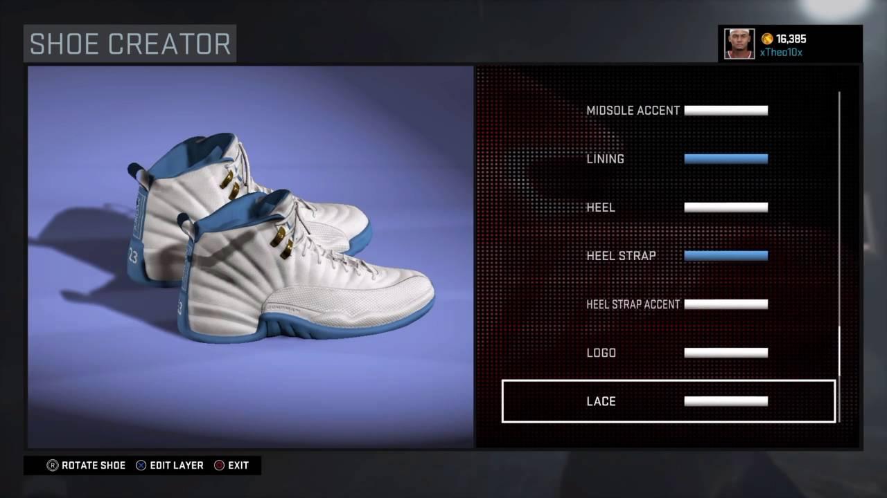new products 3e262 66be8 NBA 2K16 Shoe Creator   Jordan 12