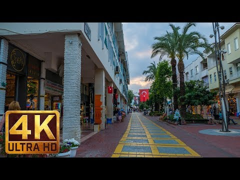 4K Cityscapes | City Life Relax Video - One Day in Kemer, Turkey - Trailer