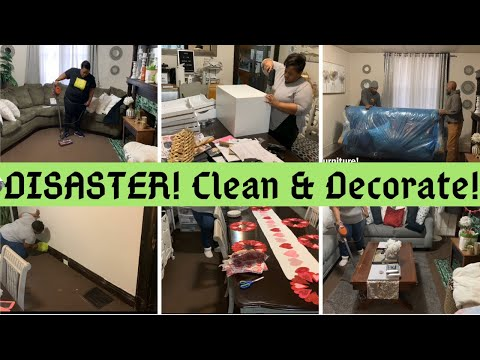 complete-disaster-/-clean-&-decorate-with-me-/-new-house-items-/-new-furniture-/-valentine's-decor