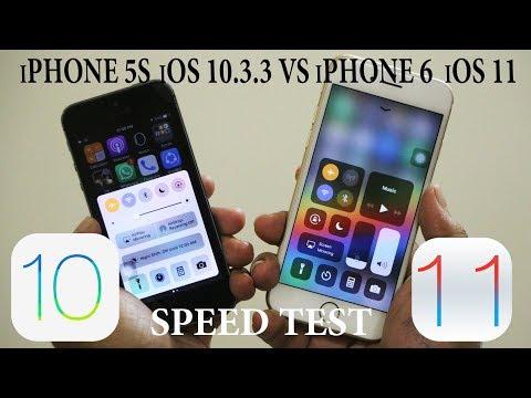 IPhone 6 IOS 11 Vs IPhone 5S IOS 10.3.3 Speed Test
