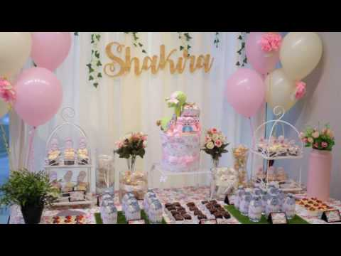 Sweet Garden Theme Baby Shower By Nanakodesign Youtube