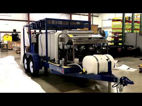 Pressure Washer 3500 PSI @ 9 GPM  hot water & wastewater recycling trailer. www.hydrochemsystenm.com