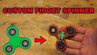 HOW TO MAKE A CUSTOM FIDGET SPINNER!!