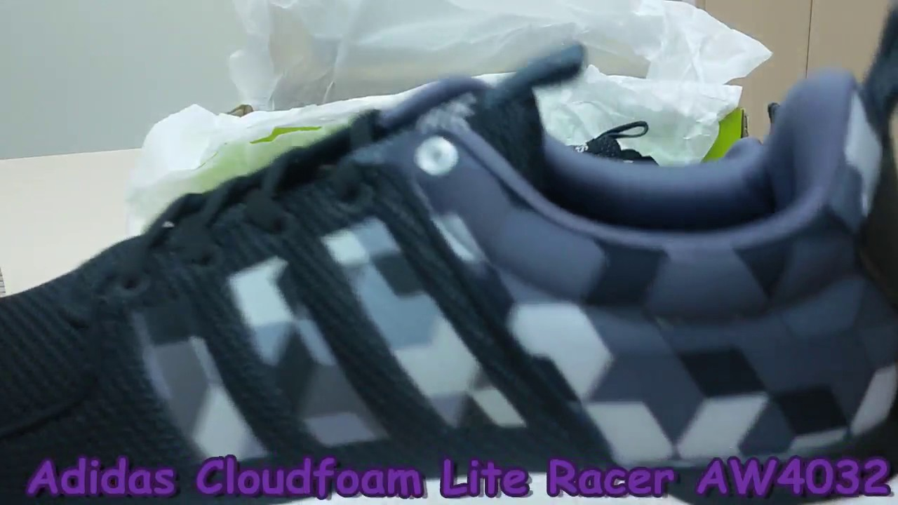 check out 57bf5 77e19 Unboxing Review Adidas Cloudfoam Lite Racer AW4032