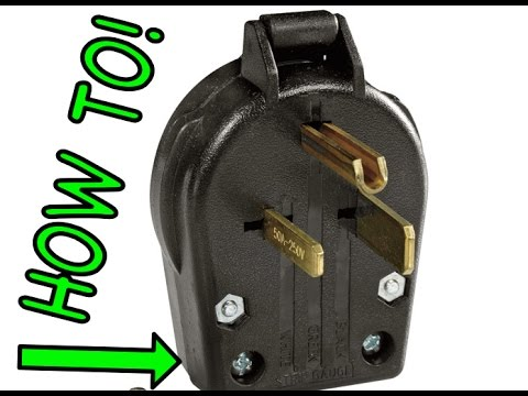 50 amp rv plug wiring diagram furnace fan relay how to wire a 220 cord-plug-outlet for welder - electric motor machine youtube