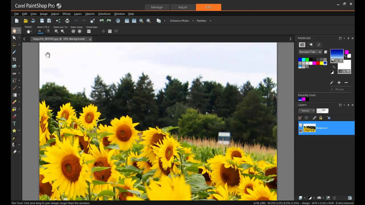 Using magic fill in paintshop pro x7 youtube Paint software free download