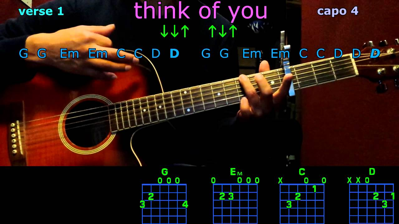 Think Of You Chris Young Guitar Chords Youtube