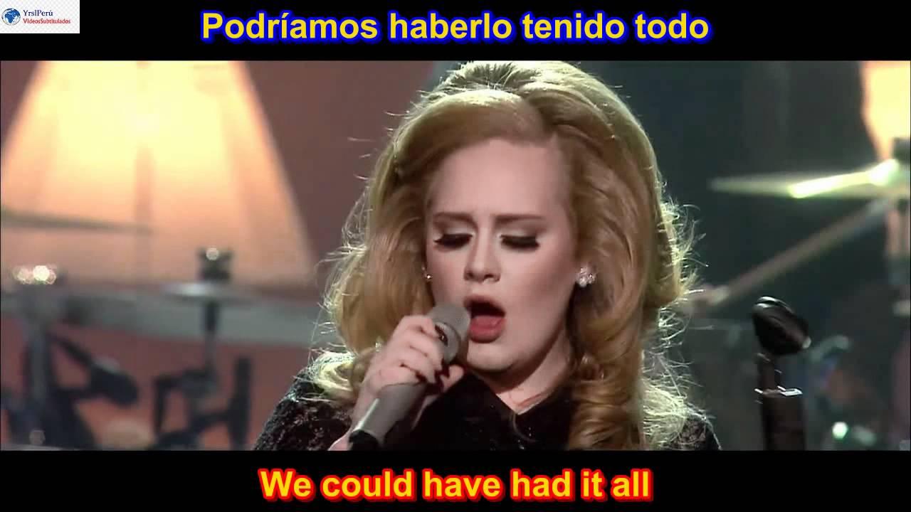 Rolling In The Deep Adele Subtitulado En Ingles Espanol Lyrics Sub Hd Youtube