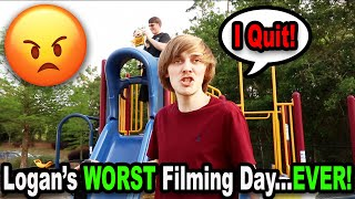 Logan's WORST Filming Day...EVER!!!