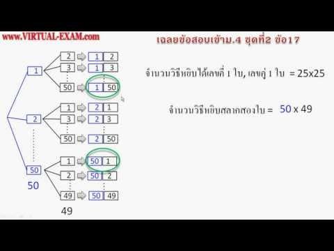 เฉลยข้อสอบคณิตศาสตร์เข้าม.4 ชุด 2 ข้อ 17