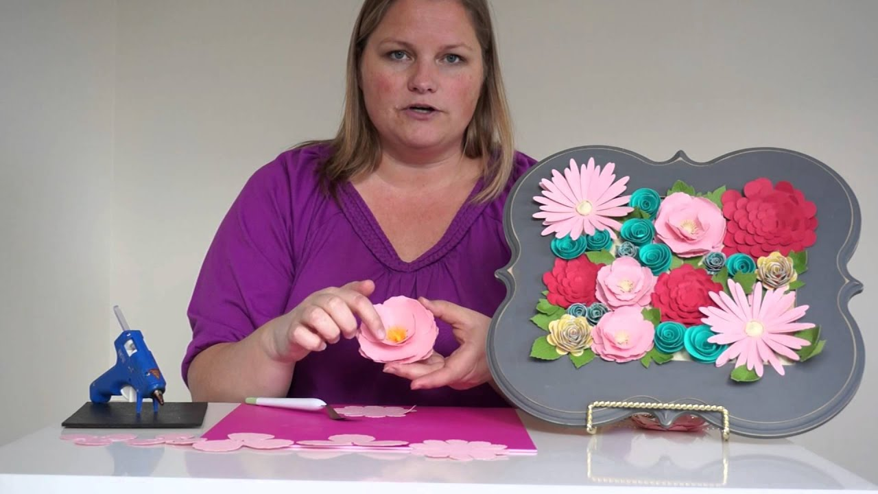 Paper Flower Tips And Tricks Using Cricut Explore Youtube