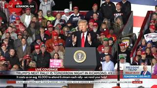 What Other Media Won't Show: HUGE Crowd at President Trump Rally in Lebanon, OH