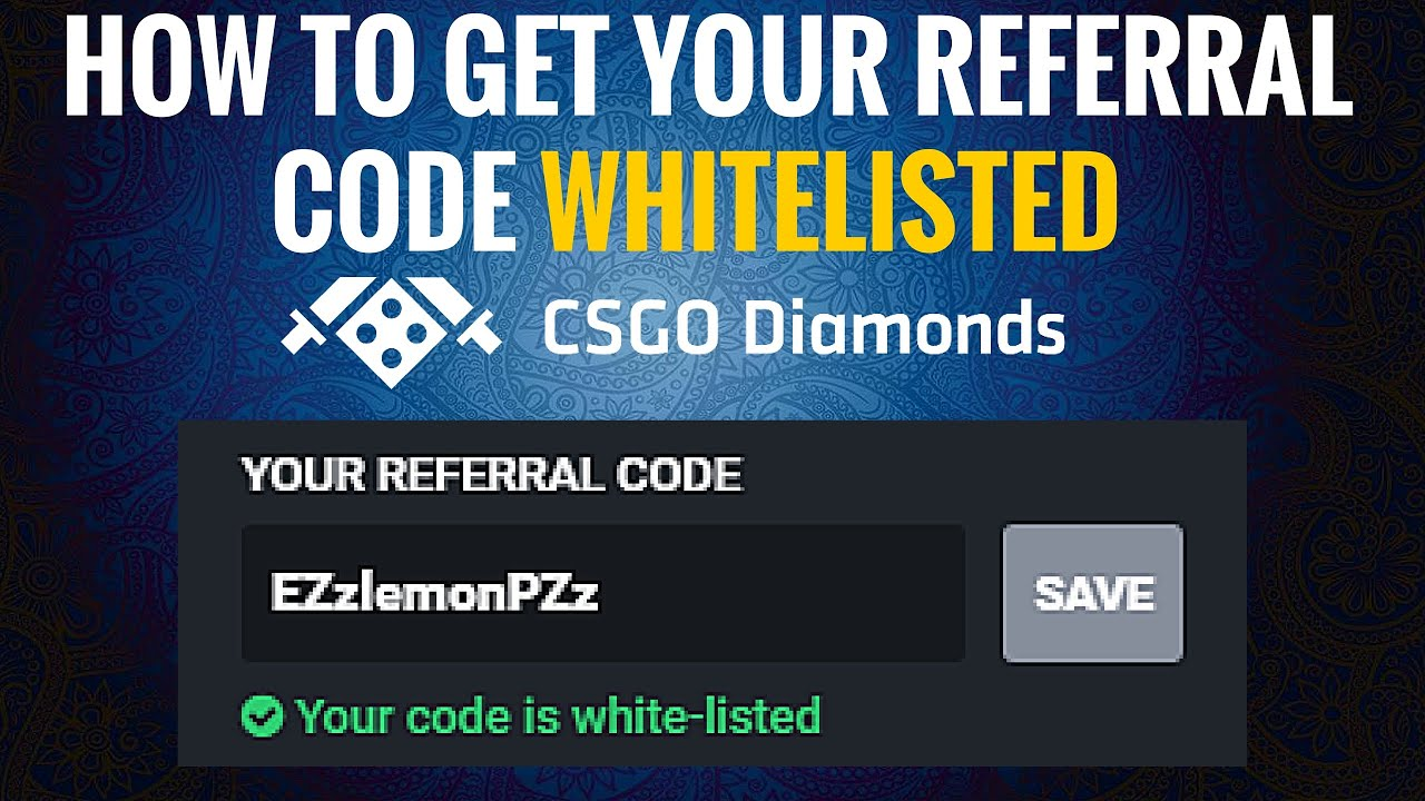 how to put in refferal coded on csgo