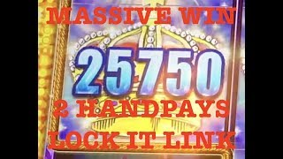MASSIVE WIN ON LOCK IT LINK 🔒 (2) HANDPAYS ~ MAX BET SPINS MGM SPRINGFIELD SLOT MACHINES