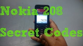 Nokia 208 Secret Codes