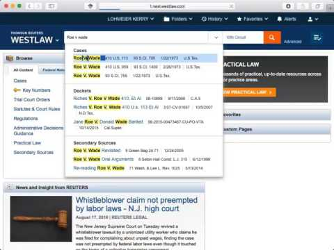 Westlaw basic navigation video