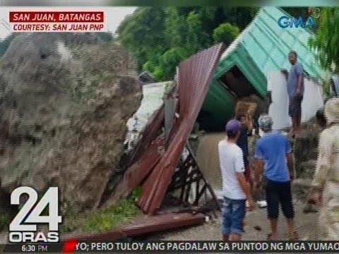 24 Oras: Magtiyahing bakasyunista, patay sa landslide sa isang resort sa San Juan, Batangas