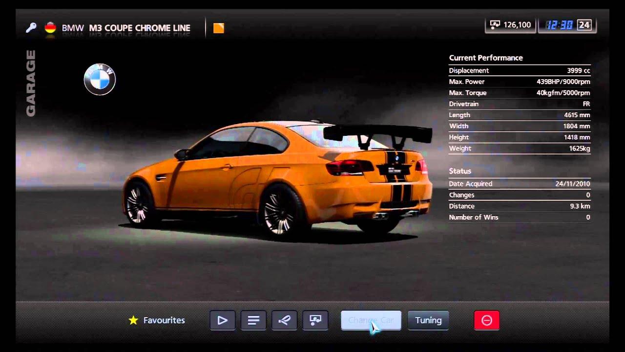 Chrome Line Exterieur Bmw Of Gran Turismo 5 Bmw M3 Coupe Chrome Line Garage View Youtube