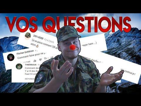 VOS QUESTIONS SUR L'ARMÉE SUISSE !