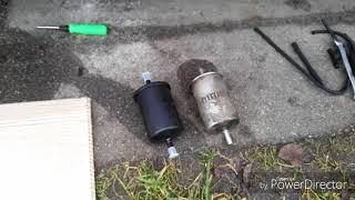 Замена топливного фильтра рено сценик 1