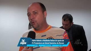 Fábio Rabelo e Neidinha falam do apoio da F5 Promotora ao futsal feminino de Russas