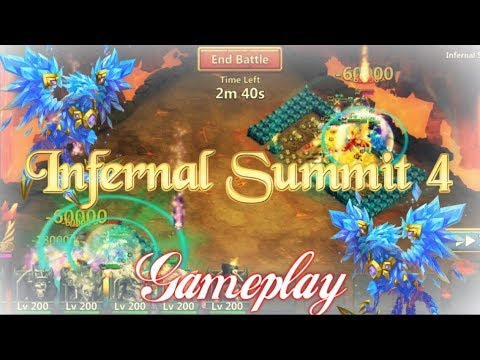 Infernal Summit 4 Gameplay With Lazulix - Castle Clash