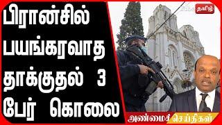 பிரான்சில் பயங்கரவாத தாக்குதல் 3 பேர் கொலை புதிய தகவல்கள் !