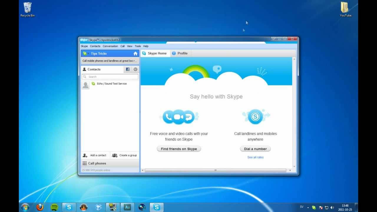 how to run two skype accounts in the same computer