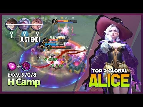 Perfect Survive with Flowing Blood! Unkillable Alice by H Camp Top 2 Global Alice ~ Mobile Legends