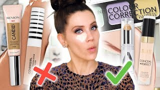 BEST & WORST DRUGSTORE CONCEALERS ... (Up Close)