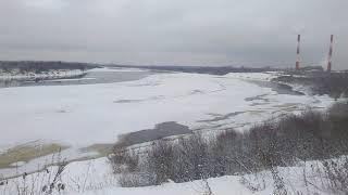 Река Вятка зимой / The Vyatka River in winter