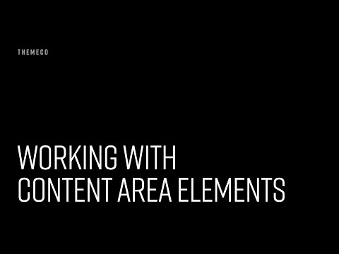 Working With Content Area Elements