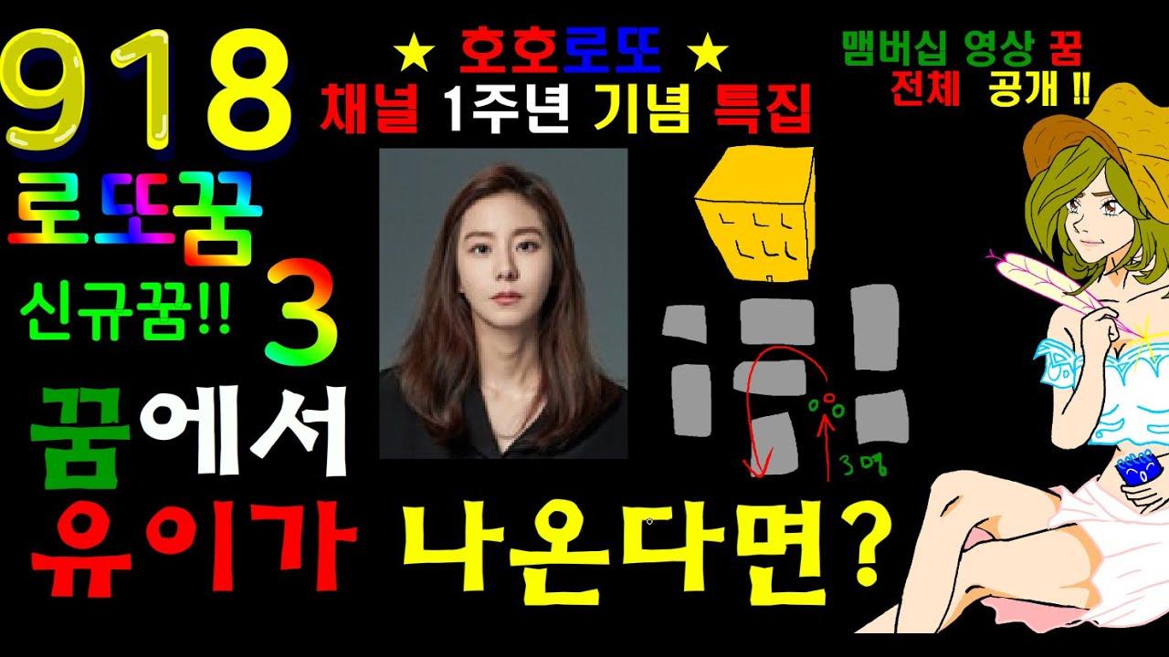 ★로또918회 꿈♡신규꿈풀이(3)_ ★1주년 특집 멤버십 영상 전체 공개!★