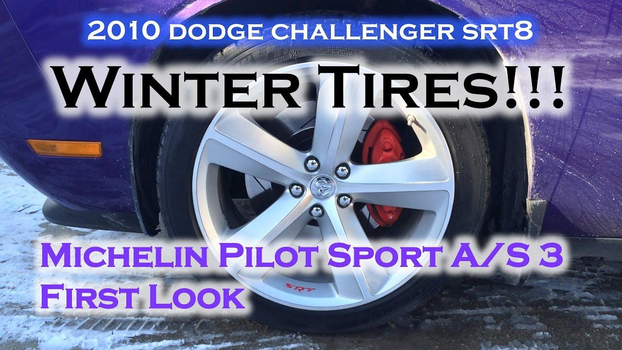 dodge challenger srt8 winter driving michelin pilot sport a s 3 tires youtube. Black Bedroom Furniture Sets. Home Design Ideas
