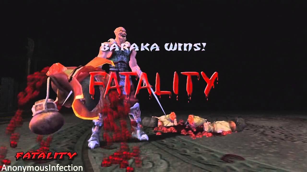 mortal kombat deception baraka s fatalities youtube