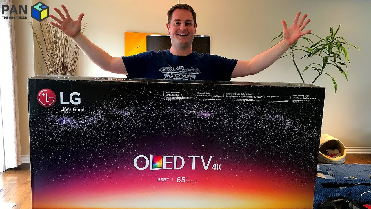 Lg B7 4k Oled Tv Review Unboxing And Wall Mounting