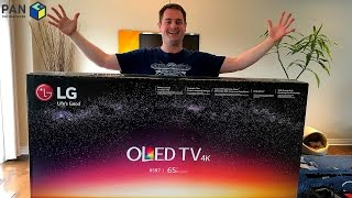 LG B7 4K OLED TV REVIEW, UNBOXING and WALL MOUNTING (2017)