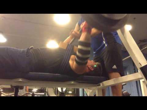 Mark Mcentee - 300 lb. 2 Board Bench Press for 5 Reps.