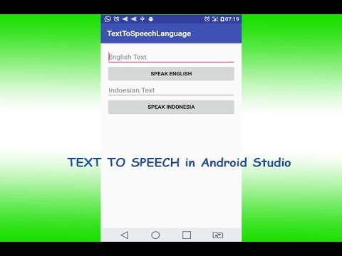 Text To Speech Indonesian Language   Bahasa Indonesia   Android Studio