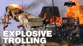 ARMA 3 RHS KOTH: Trolling with explosives