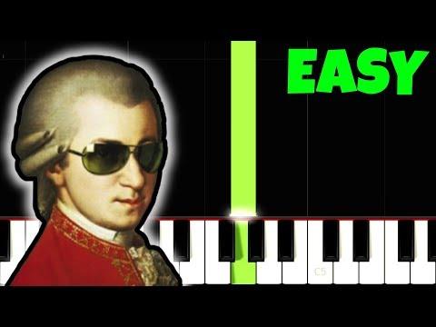 Mozart - Eine Kleine Nachtmusik [Easiest Piano Tutorial - Right Hand ONLY] (Synthesia)