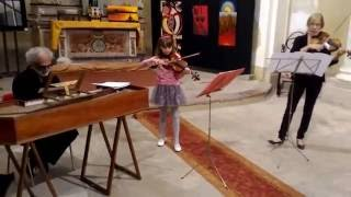 Carolina Nicola 9 anni Concerto Barocco Greensleeves e Bergamasca