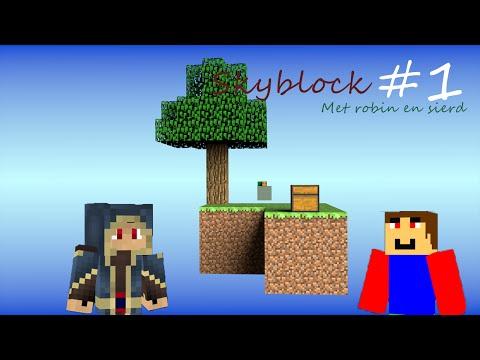 Skyblock met robin #1 LAVA BIJNA WEG!
