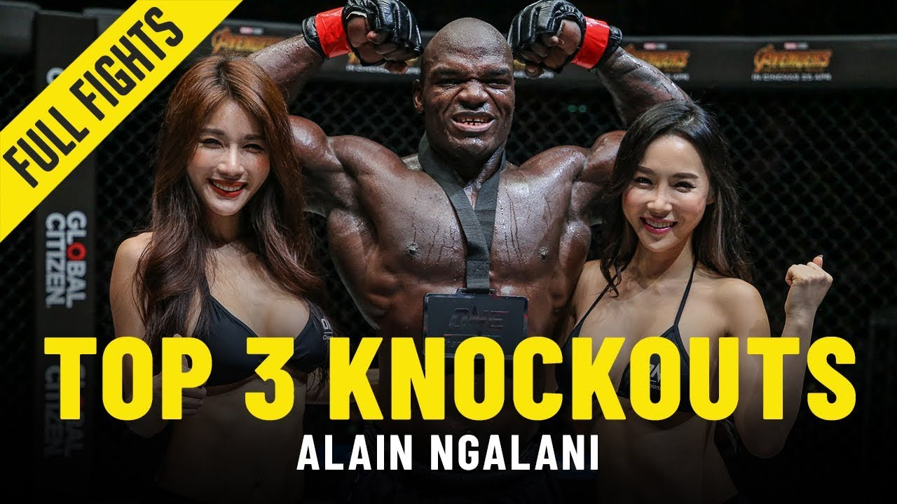 Top 3 Knockouts | Alain Ngalani | ONE Full Fights