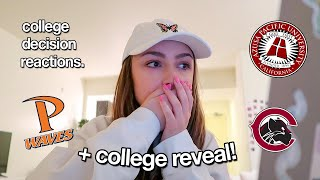 college decision reactions + COLLEGE REVEAL 2020!