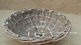 Primitive Technology Basket | Woven Twig Basket | Village Food Secrets
