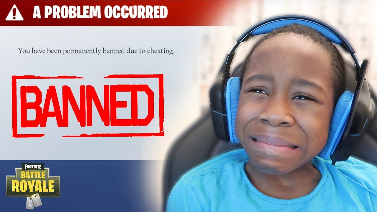 Kid gets BANNED from Fortnite  **PRANK!** (Funny Fortnite Trolling)